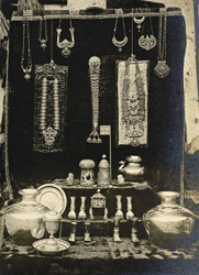Gold vessels used in worship, and jewels, Vanamamaliperumal Temple, Nanguneri, Tinnevelly District